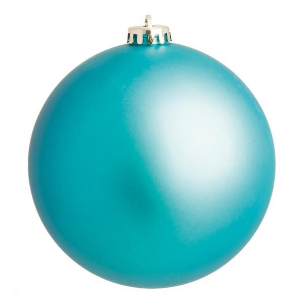 Weihnachtskugel, aqua matt, Ø 10cm
