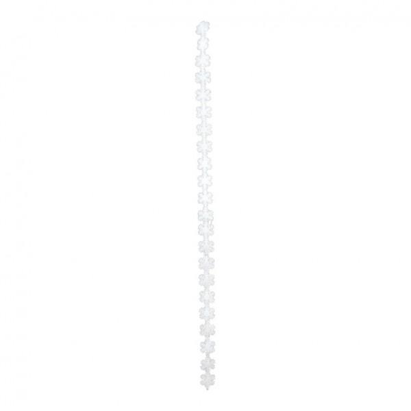 Schneeflockengirlande, 200cm, 24 Schneeflocken 8cm