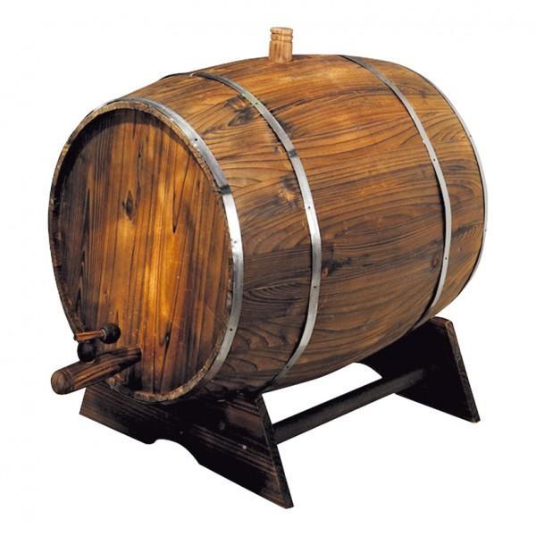 Weinfass auf Ständer, 60x45cm, Holz