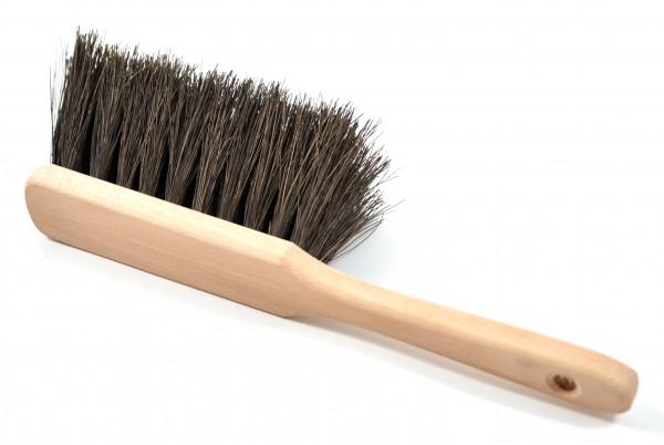 Handbesen Arenga schwarz, rohes Holz