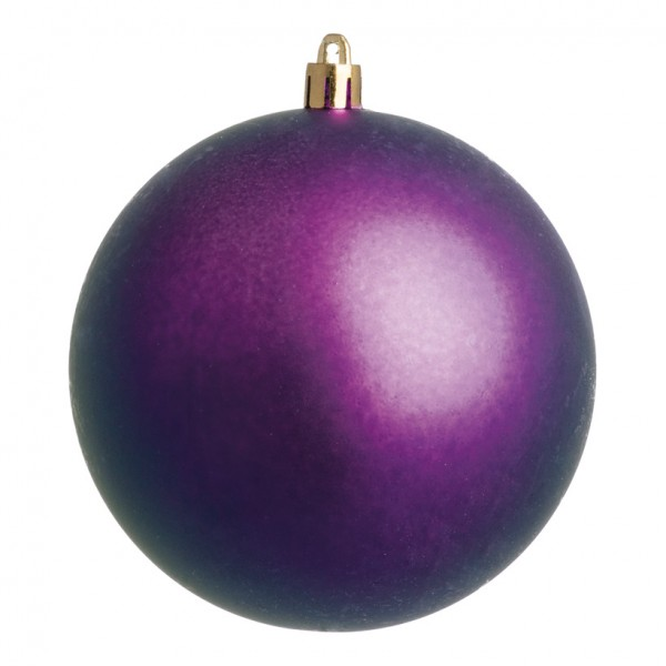 Weihnachtskugel, violett matt, Ø 10cm