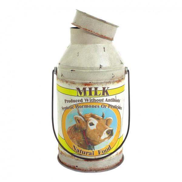 "Milchkanne ""MILK"", Ø 31cm, 62cm, Metall, Antiklook"