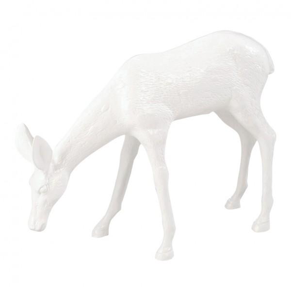 Reh, äsend, 42x54x12cm, Kunstharz