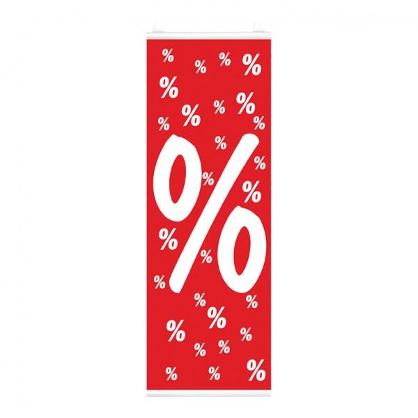 Plakat %-Zeichen, 48x138cm, einseitig bedruckt, Papier