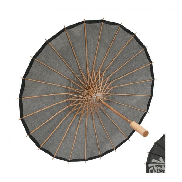 Schirm, Ø 75cm, Papier, Holzzweige