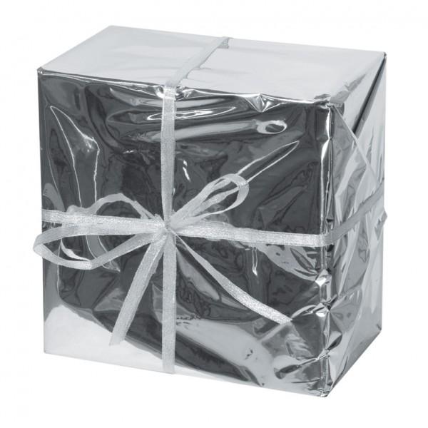 Geschenkpaket, 25x25x15cm, Styrofoam/Folie