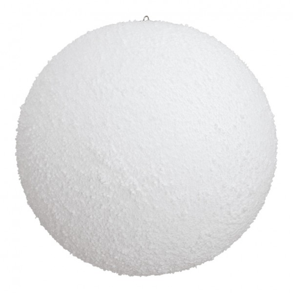 Schneekugel, Ø 10cm, mit Hänger, beflockt