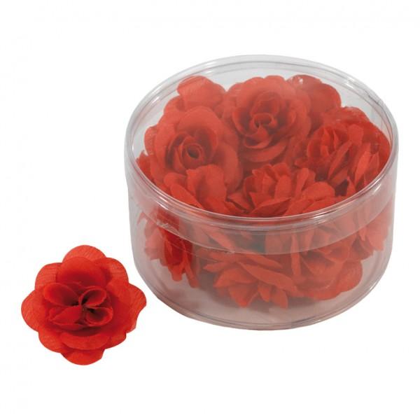Rosenblütenköpfe, 4,5cm, 20Stck./Blister, Kunstseide
