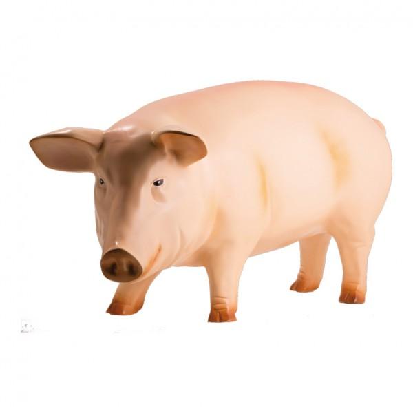 Schwein, 90x40cm, Kunstharz