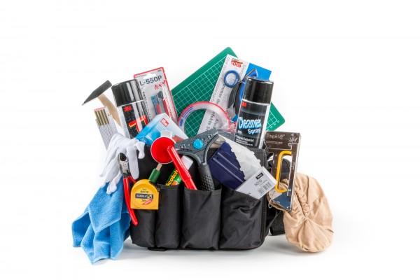 Werkzeug-Umhängetasche 'NYLON' gefüllt