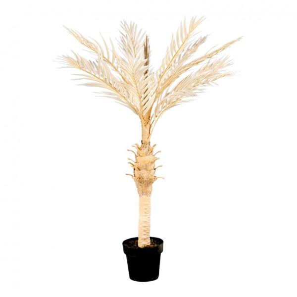 Phoenix-Palme im Topf, 120cm, Kunststoff/Kunstseide