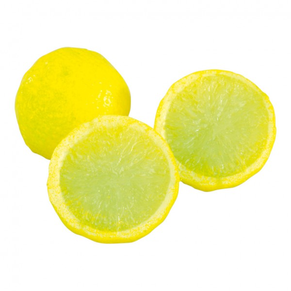 Zitronenhälften, 4cm, 3Stck./Btl., Kunststoff
