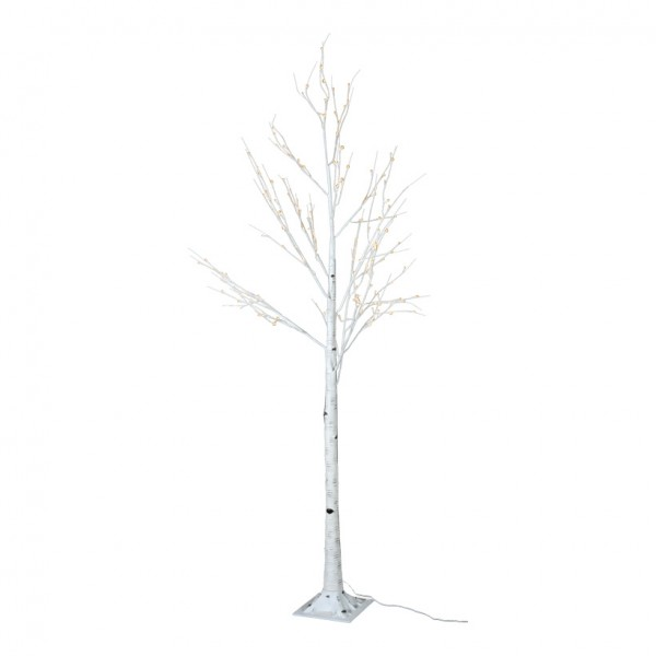LED-Birkenbaum, 240cm mit 160 LEDs, 24V Trafo, IP44, 5m Zuleitung
