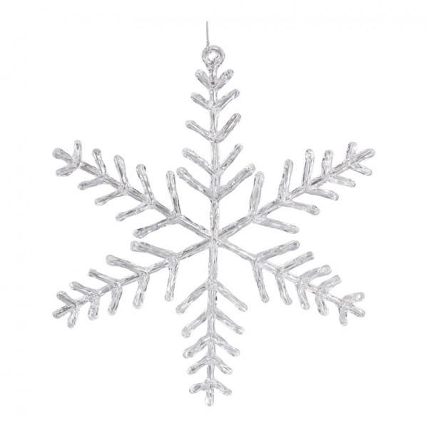 Schneeflocke, Ø 25cm, mit Hänger, Kunststoff
