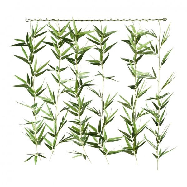 Bambusvorhang, 90x80cm, 5-fach, Kunstseide