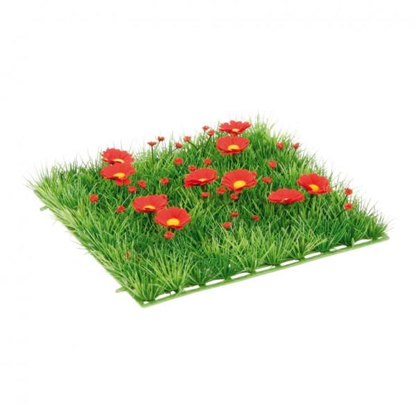 """Grasplatte """"Anemonen"""", 25x25cm, Kunststoff, Kunstseide"""