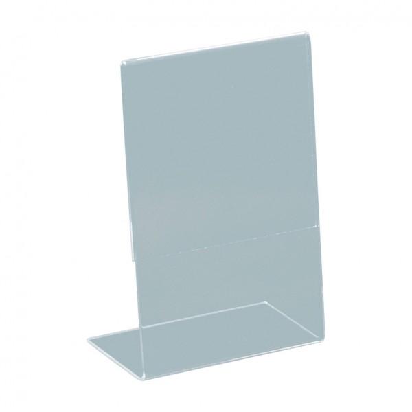 L-Aufsteller, A6, 15x10,5x5cm, Plexiglas