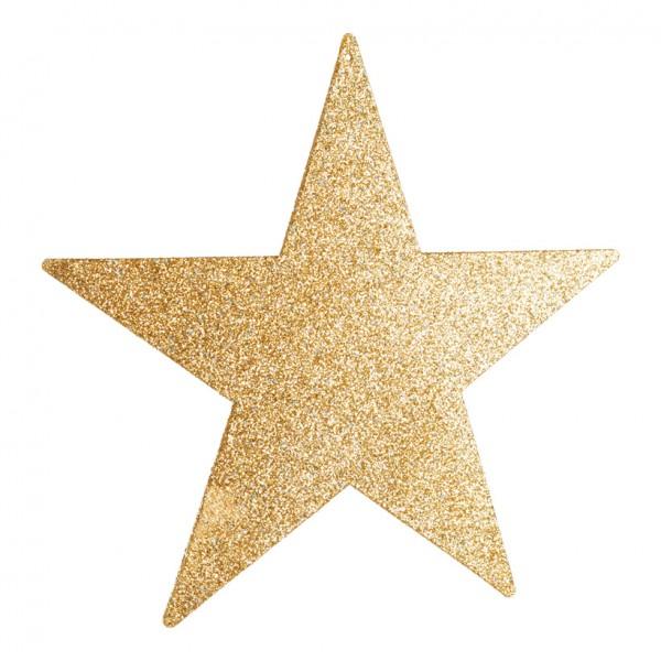 Stern, Ø 28cm, Kunststoff, mit Glitter