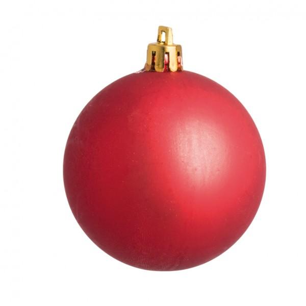 Weihnachtskugeln, rot matt, Ø 6cm 12 St./Blister