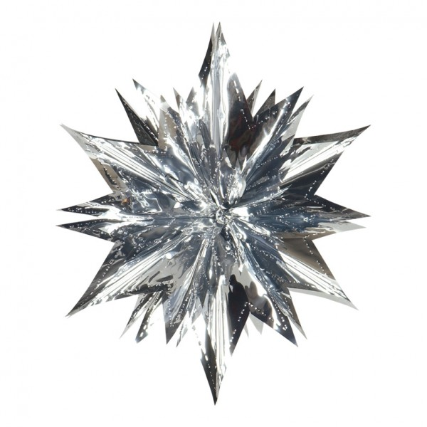 Stern, Ø 40cm, faltbar, Metallfolie