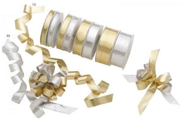 Beatrice-Metallic-Stoffband - Silber/Gold