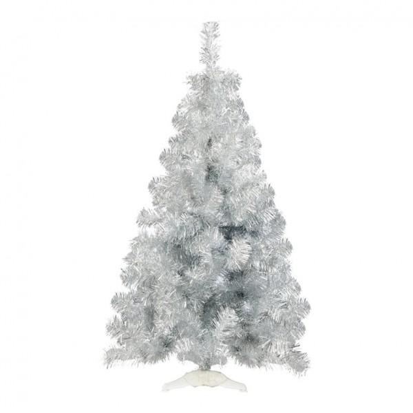 "Tinselbaum ""Deluxe"", Ø 76cm, 120cm, 186 Tips, Kunststoffständer, Metallfolie, schwer entflammbar nac"