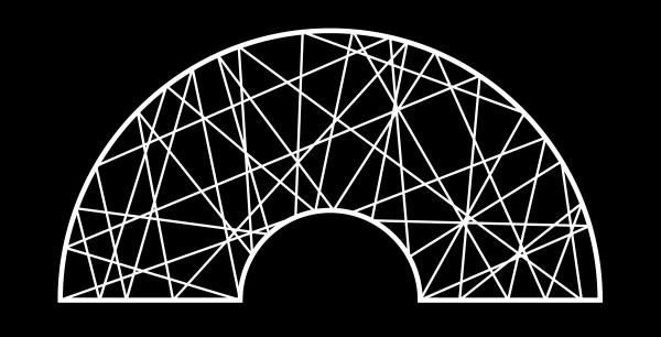 Fiberglass 2d Halbkreis mit Loch