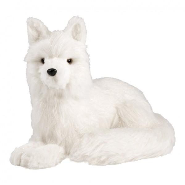 Fuchs, liegend, 42x31cm, Styrofoam mit Kunstpelz