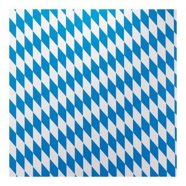 Bayrische Raute Folie, 130cm breit Mindestabnahmemenge 30m, einseitig bedruckt, 89% Weich-PVC - 11%