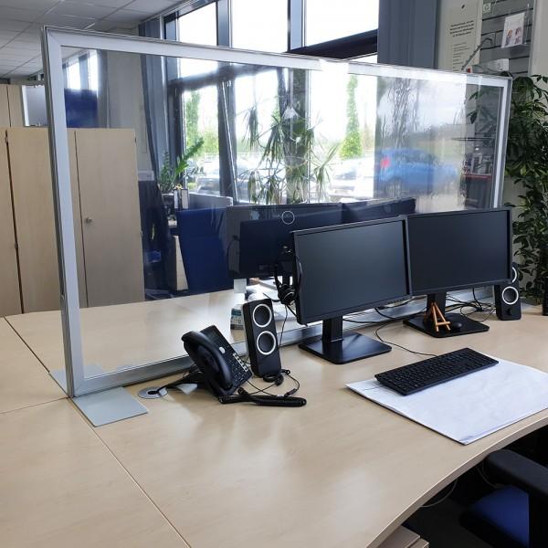 Trennwand für Theken oder Schreibtisch