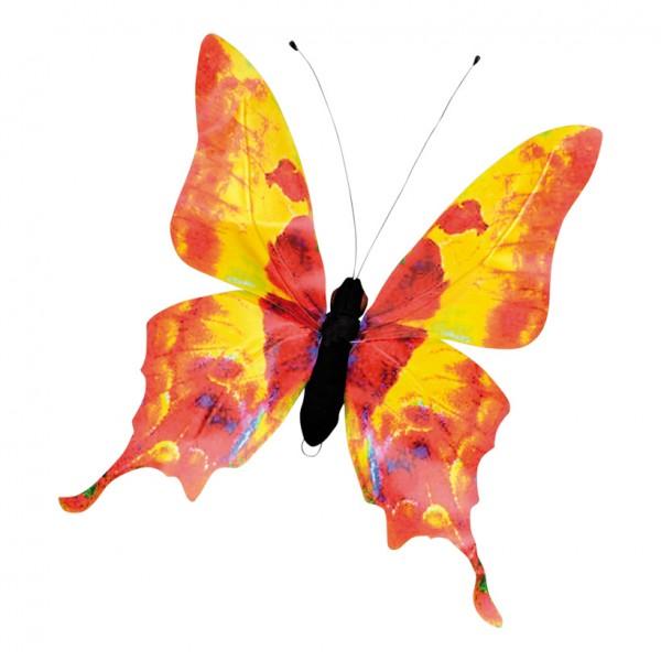 Schmetterling, 45x50cm, PVC-Folie, Styrofoam, Metall, wasserresistent
