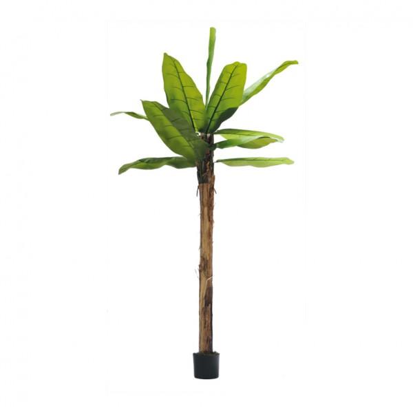 Bananenbaum, 240cm, 12 Blätter aus Kunstseide, im Topf, Stamm aus Naturfaser