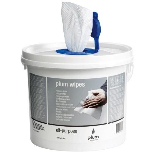 PlumWipes All-Purpose Reinigungstücher - 200 Stück Eimer