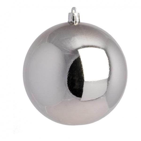 Weihnachtskugel, silber glänzend, Ø 25cm