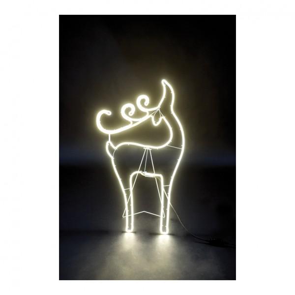 """Neon-Figur """"Rentier"""", 85x50cm mit 120 LEDs, 230V, IP44 Stecker für außen, 1,5m Zuleitung"""