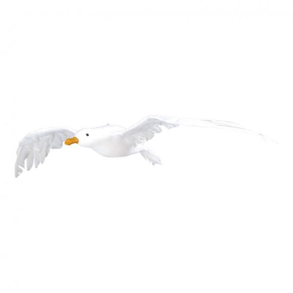 Seemöwe 35x75cm, fliegend, Styrofoam mit Zellstoff