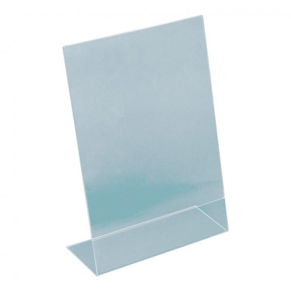 L-Aufsteller, A4, 30x21x8cm, Plexiglas