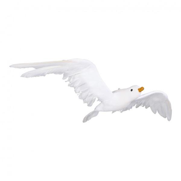 Seemöwe 24x50cm, fliegend, Styrofoam mit Zellstoff