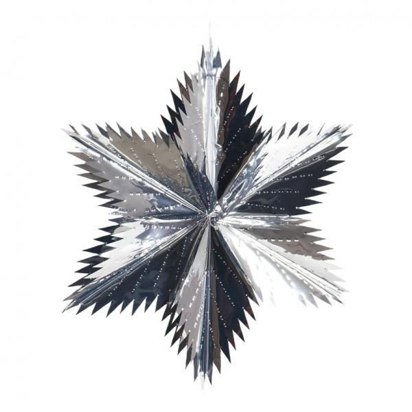 Spitzschnittstern, Ø 75cm, faltbar, Metallfolie, schwer entflammbar