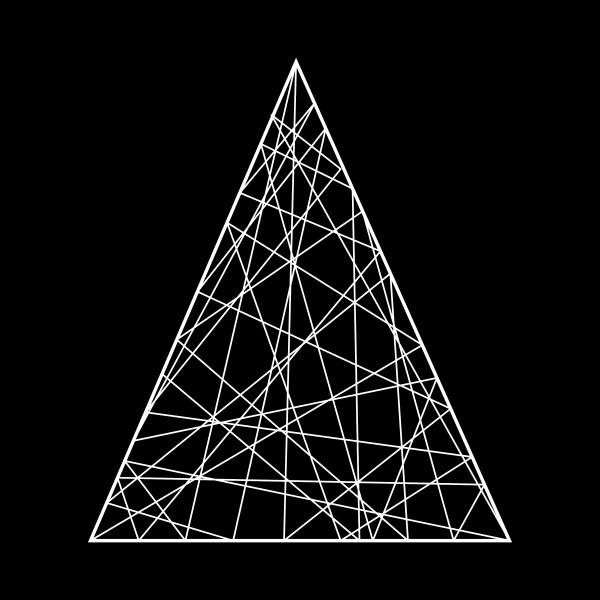 Fiberglass Dekoelement 2d Dreieck