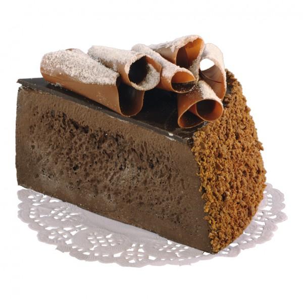 Kuchenstück, 7x10cm, Schokoladentorte, Schaumstoff
