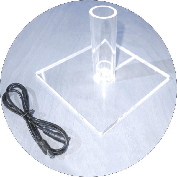 Acrylstandfuß für RGB-LED-Leuchtstab