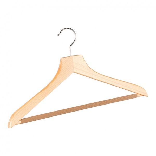 Anzugbügel, 45cm, gewinkelt, rutschfester Steg, Holz