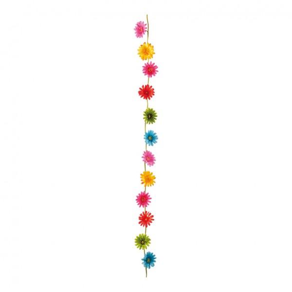 Gerberagirlande, Ø 9cm, 180cm, 12-fach, Kunststoff/Kunstseide