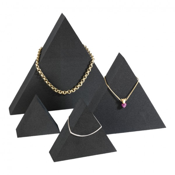 Display-Triangel, 20x17x3cm, 15x13x3cm, 10x8,5x3cm, 7x6x3cm, 4-tlg., Zellkautschuk