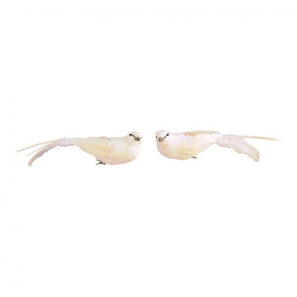 Vögel mit Clip, 6x26cm, 2-fach sortiert, Styrofoam mit Federn