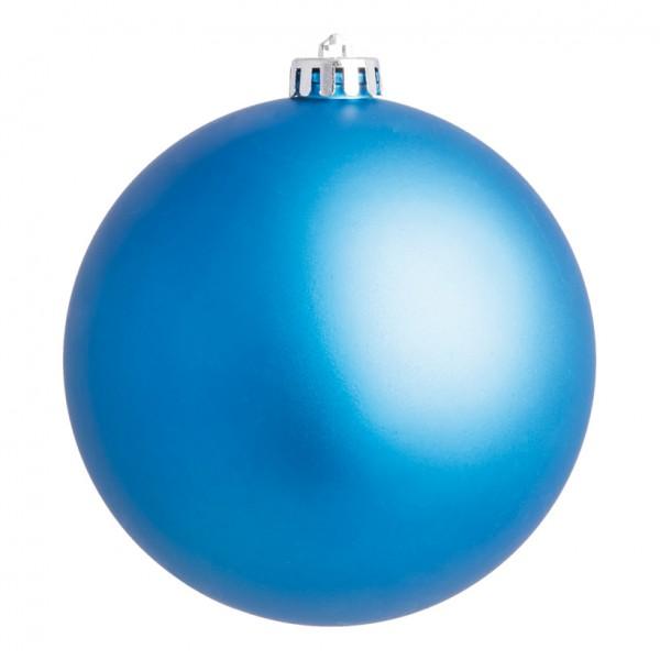 Weihnachtskugel, blau matt, Ø 14cm