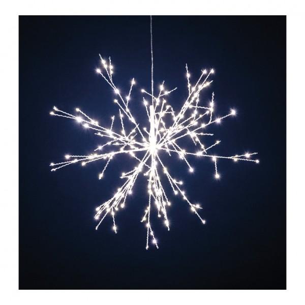 Mikro LED-Eiskristall, Ø 40cm mit 20 Spikes á 14 LEDs, Gesamt: 280 LEDs, 12V, IP44, 3m Zuleitung