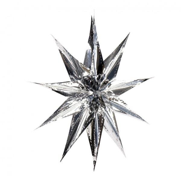 Weihnachtsstern, klassisch, Ø 40cm, Metallfolie, schwer entflammbar