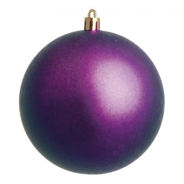 Weihnachtskugeln, violett matt, Ø 8cm 6 St./Blister